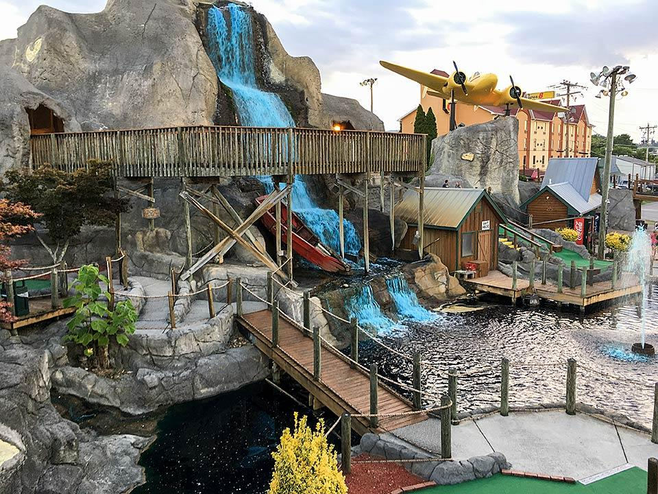 One of the better mini golf courses in Pigeon Forge, Tennessee