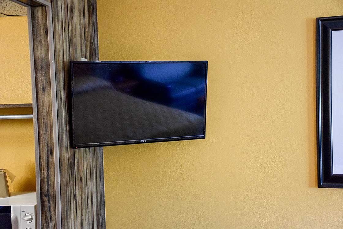 King room offers flat screen TV